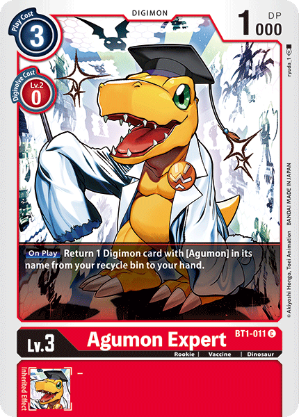 BT1-011Agumon Expert